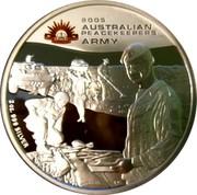Australia 2 Dollars Australian Peacekeepers - Army 2005 KM# 755 2 OZ. 999 SILVER coin reverse