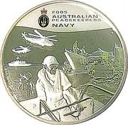 Australia 2 Dollars Australian Peacekeepers - Navy 2005 KM# 756 2 OZ. 999 SILVER coin reverse