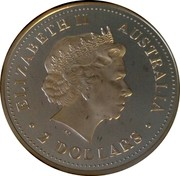 Australia 2 Dollars Australian Peacekeepers - Police 2005 KM# 758 ELIZABETH II AUSTRALIA 2 DOLLARS IRB coin obverse