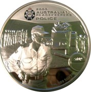 Australia 2 Dollars Australian Peacekeepers - Police 2005 KM# 758 2 OZ. 999 SILVER STOP coin reverse
