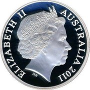 Australia 2 Dollars H.M.A.S. AE 2 submarine 2011 KM# 1627 ELIZABETH II AUSTRALIA 2011 IRB coin obverse