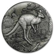 Australia 2 Dollars Hopping Kangaroo 2016 P WR coin reverse