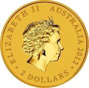 Australia 2 Dollars Kangaroo Mini Roo 2012 P KM# 1790 ELIZABETH II AUSTRALIA 2012 ∙2 DOLLARS∙ IRB coin obverse