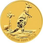 Australia 2 Dollars Kangaroo Mini Roo 2012 P KM# 1790 0.5 GRAM 9999 GOLD P coin reverse