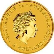 Australia 2 Dollars Mini Roo 2010 KM# 1390 ELIZABETH II AUSTRALIA 2010 2 DOLLARS IRB coin obverse