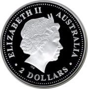 Australia 2 Dollars The Australian Kookaburra 2005 KM# 887 ELIZABETH II AUSTRALIA 2 DOLLARS IRB coin obverse