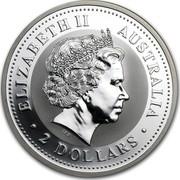 Australia 2 Dollars The Australian Kookaburra 2007 KM# 890 ELIZABETH II AUSTRALIA 2 DOLLARS IRB coin obverse