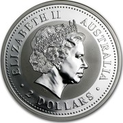 Australia 2 Dollars Year of the Goat 2003 KM# 679 ELIZABETH II AUSTRALIA 2 DOLLARS IRB coin obverse