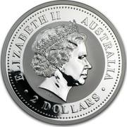 Australia 2 Dollars Year of the Monkey 2004 KM# 675 ELIZABETH II AUSTRALIA 2 DOLLARS IRB coin obverse