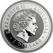 Australia 2 Dollars Year of the Rooster 2005 KM# 793 ELIZABETH II AUSTRALIA 2 DOLLARS IRB coin obverse