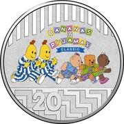 Australia 20 Cents 25th Anniversary Bananas in Pyjamas 2017  BANANAS IN PYJAMAS CLASSIC 20 coin reverse