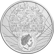Australia 20 Cents 400th Anniversary of Dirk Hartog's Landfall 2016  ELIZABETH II IRB AUSTRALIA 2016 coin obverse
