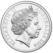 Australia 20 Cents Australia Remembers - Australians Comforts Fund 2014  ELIZABETH II AUSTRALIA 2014 IRB coin obverse
