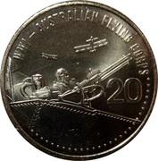 Australia 20 Cents Australian Flying Corps 2015  WW1 - AUSTRALIAN FLYING CORPS 20 coin reverse