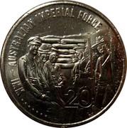 Australia 20 Cents Australian Imperial Force 2015  WW1 - AUSTRALIAN IMPERIAL FORCE 20 coin reverse