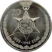 Australia 20 Cents Legends of the Anzacs - 1939-45 Star 2017 UNC 20 GRJ VI THE 1939 - 1945 STAR 1939-1945 STAR coin reverse