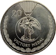 Australia 20 Cents Legends of the Anzacs 2017 UNC 20 VICTORY MEDAL coin reverse