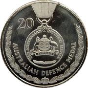 Australia 20 Cents Legends of the Anzacs - Australian Defence Medal 2017 UNC 20 THE AUSTRALIAN DEFENCE MEDAL AUSTRALIA AUSTRALIAN DEFENCE MEDAL coin reverse