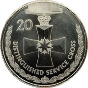 Australia 20 Cents Legends of the Anzacs - Distinguished Service Cross 2017 UNC 20 DISTINGUISHED SERVICE CROSS coin reverse