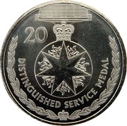 Australia 20 Cents Legends of the Anzacs - Distinguished Service Medal 2017 UNC 20 DISTINGUISHED SERVICE MEDAL coin reverse