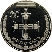 Australia 20 Cents Legends of the Anzacs - Military Cross 2017 UNC 20 MILITARY CROSS coin reverse