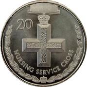 Australia 20 Cents Legends of the Anzacs - Nursing Service Cross 2017 UNC 20 NURSING SERVICE CROSS coin reverse