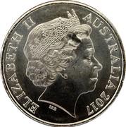 Australia 20 Cents Legends of the Anzacs - Star of Gallantry 2017 UNC ELIZABETH II AUSTRALIA 2017 IRB coin obverse