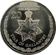Australia 20 Cents Legends of the Anzacs - Star of Gallantry 2017 UNC FOR GALLANTRY 20 STAR OF GALLANTRY coin reverse