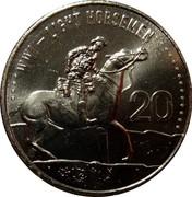 Australia 20 Cents Light Horsemen 2015  WW1 - LIGHT HORSEMEN 20 coin reverse