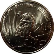 Australia 20 Cents Mateship 2015  WW1 - MATESHIP coin reverse
