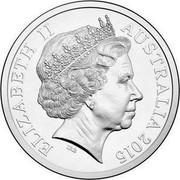 Australia 20 Cents Netball World Cup 2015 ELIZABETH II AUSTRALIA 2015 IRB coin obverse