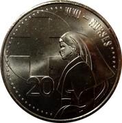 Australia 20 Cents Nurses 2015  WWI - NURSES 20 coin reverse