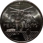 Australia 20 Cents Peacekeeping 2016  20 PEACEKEEPING coin reverse