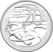 Australia 20 Cents Queen Elizabeth II 90th Birthday 2016  20 coin reverse