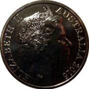 Australia 20 Cents Remembrance Day 2015  ELIZABETH II AUSTRALIA 2015 IRB coin obverse