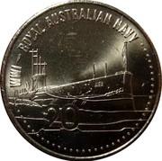 Australia 20 Cents Royal Australian Navy 2015  WW1 - ROYAL AUSTRALIAN NAVY AE2 20 coin reverse