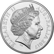 Australia 20 Cents Sinking of The SS Vyner Brooke 2017 UNC ELIZABETH II. AUSTRALIA 2017 coin obverse