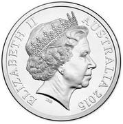 Australia 20 Cents Sir Henry Parkes 2015  ELIZABETH II AUSTRALIA 2015 IRB coin obverse