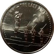 Australia 20 Cents The Last Post 2015  WW1 - THE LAST POST 20 coin reverse