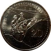 Australia 20 Cents War Correspondents 2015  WW1 - WAR CORRESPONDENTS 20 coin reverse