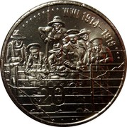 Australia 20 Cents WWI 1914 - 1918 2015  WWI 1914-1918 20 coin reverse