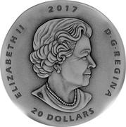 Canada 20 Dollars Ancient Canada - Ogygopsis 2017 ELIZABETH II 2017 D G REGINA 20 DOLLARS SB coin obverse