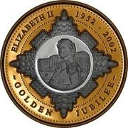 Australia 20 Dollars Golden Jubilee 2002 KM# 634 ELIZABETH II 1952-2002 ~ GOLDEN JUBILEE ~ P coin reverse