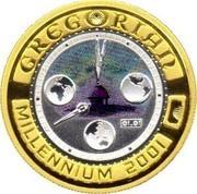 Australia 20 Dollars Gregorian Millenium 2001 KM# 595 GREGORIAN MILLENNIUM 2001 10 20 30 40 50 01.01 P coin reverse