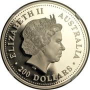 Australia 200 Dollars Australian Koala 2001 KM# 920 ELIZABETH II AUSTRALIA 200 DOLLARS IRB coin obverse