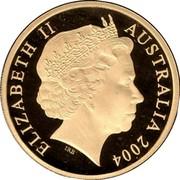 Australia 200 Dollars Cassowary bird 2004 B Proof KM# 732 ELIZABETH II AUSTRALIA 2004 IRB coin obverse
