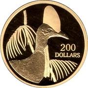 Australia 200 Dollars Cassowary bird 2004 B Proof KM# 732 200 DOLLARS coin reverse