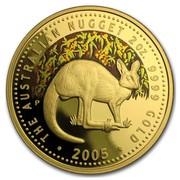 Australia 200 Dollars Kangaroo 2005 KM# 914 THE AUSTRALIAN NUGGET 2 OZ. 9999 GOLD 2005 P RV coin reverse