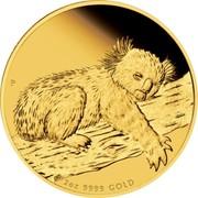 Australia 200 Dollars Koala sleeping 2012 P Proof KM# 1846 2 OZ 9999 GOLD P AH coin reverse