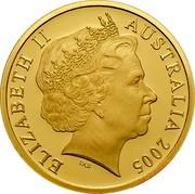 Australia 200 Dollars Malleefowl bird 2005 B Proof KM# 753 ELIZABETH II AUSTRALIA 2005 IRB coin obverse